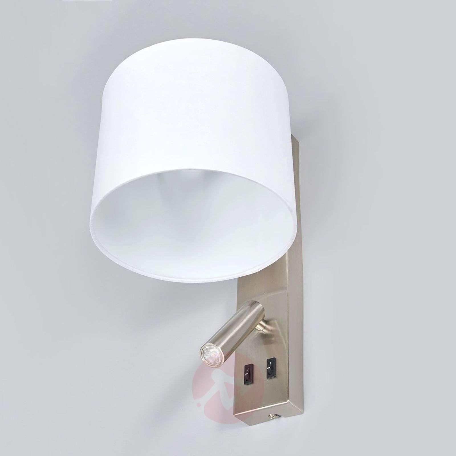 White wall lamp Mavis with LED reading light-9641099-02