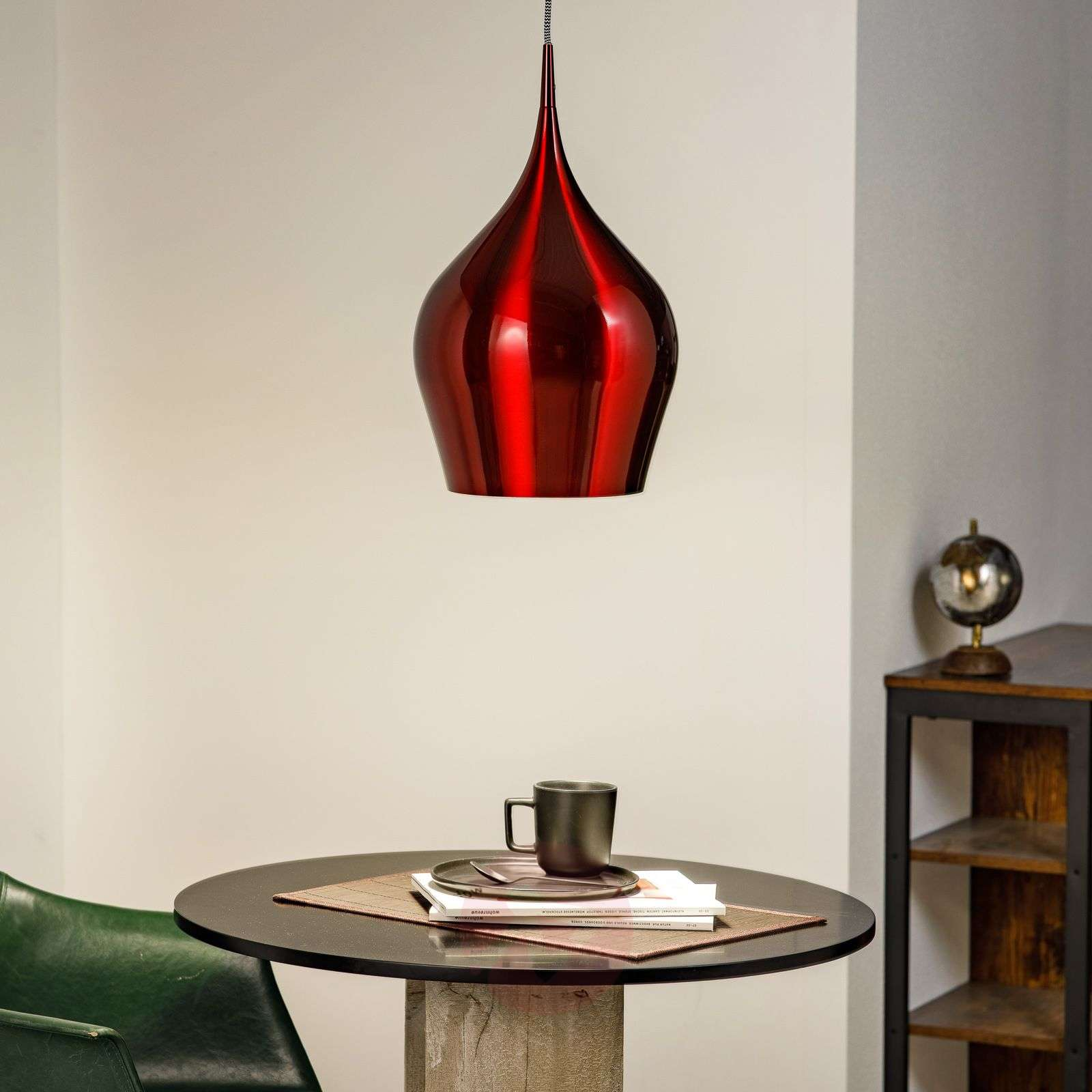 Wine red Vibrant hanging light-8570892-01