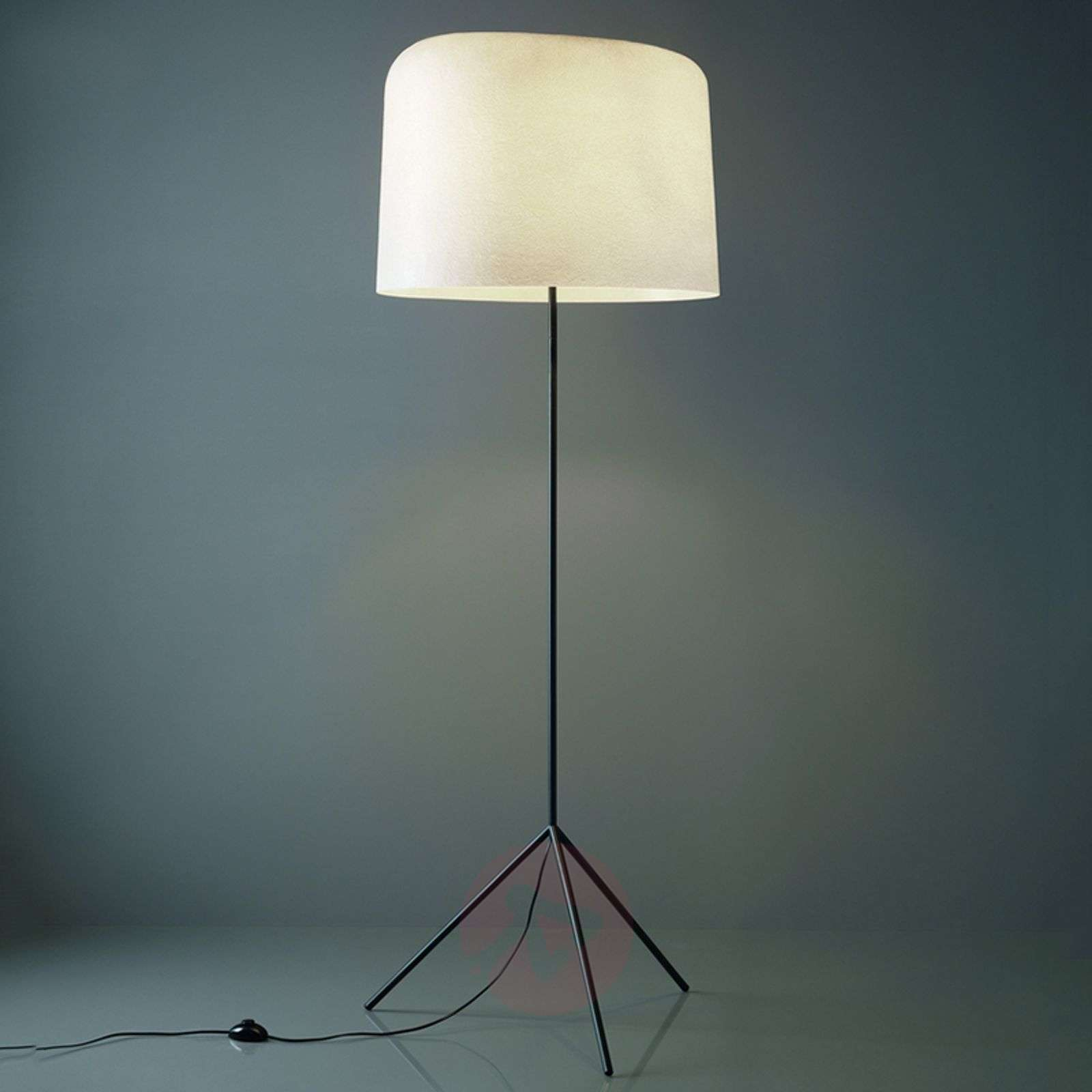 With a fibre glass lampshade floor lamp Ola-5501102X-01