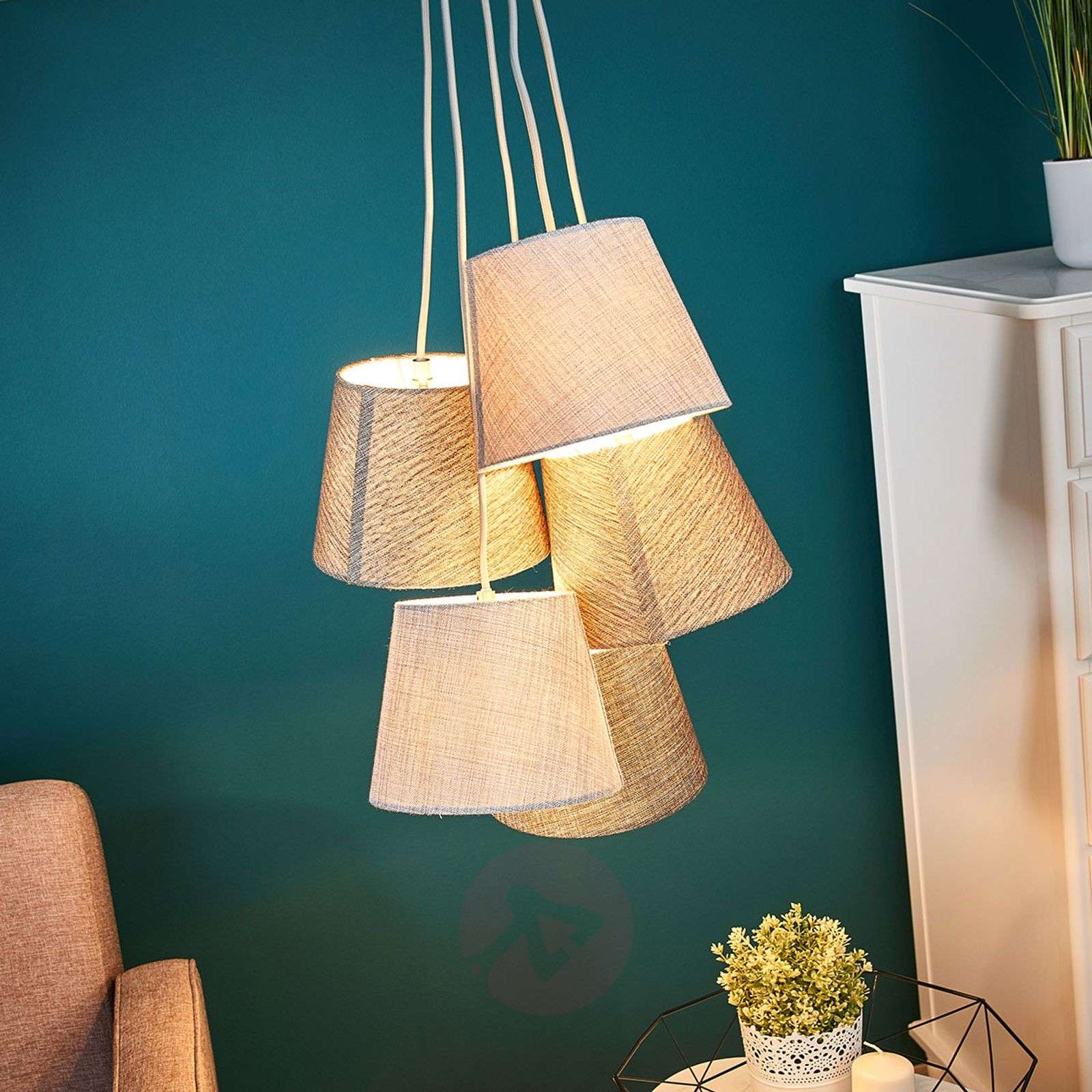With five shades Multi hanging light grey-brown-4581243-03