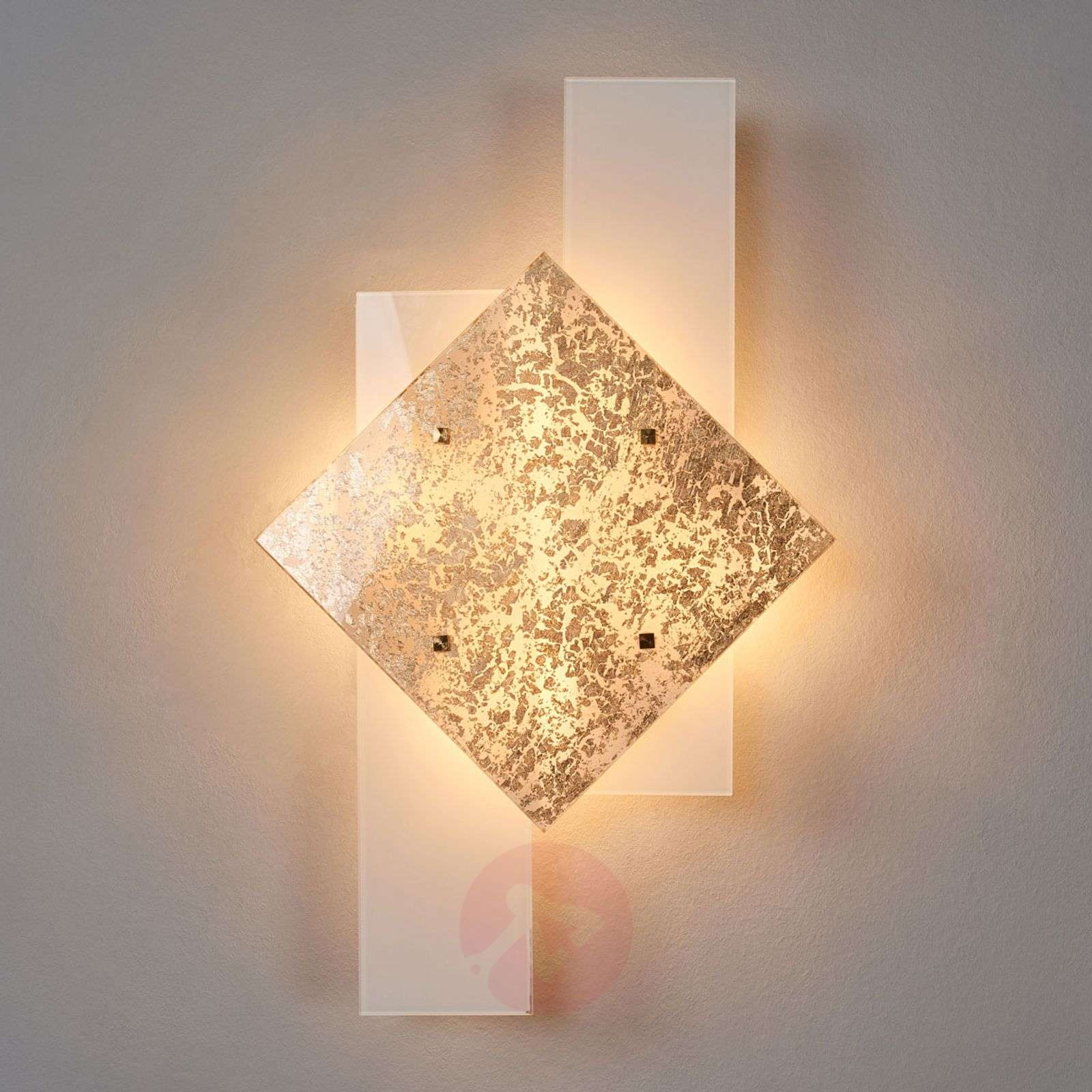 With gold leaf décor wall light Bandiera 63 cm-6059390-01