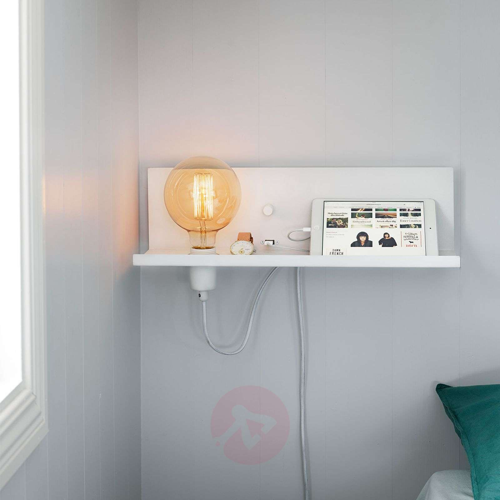 With USB charger Multi white wall light-6506157-01