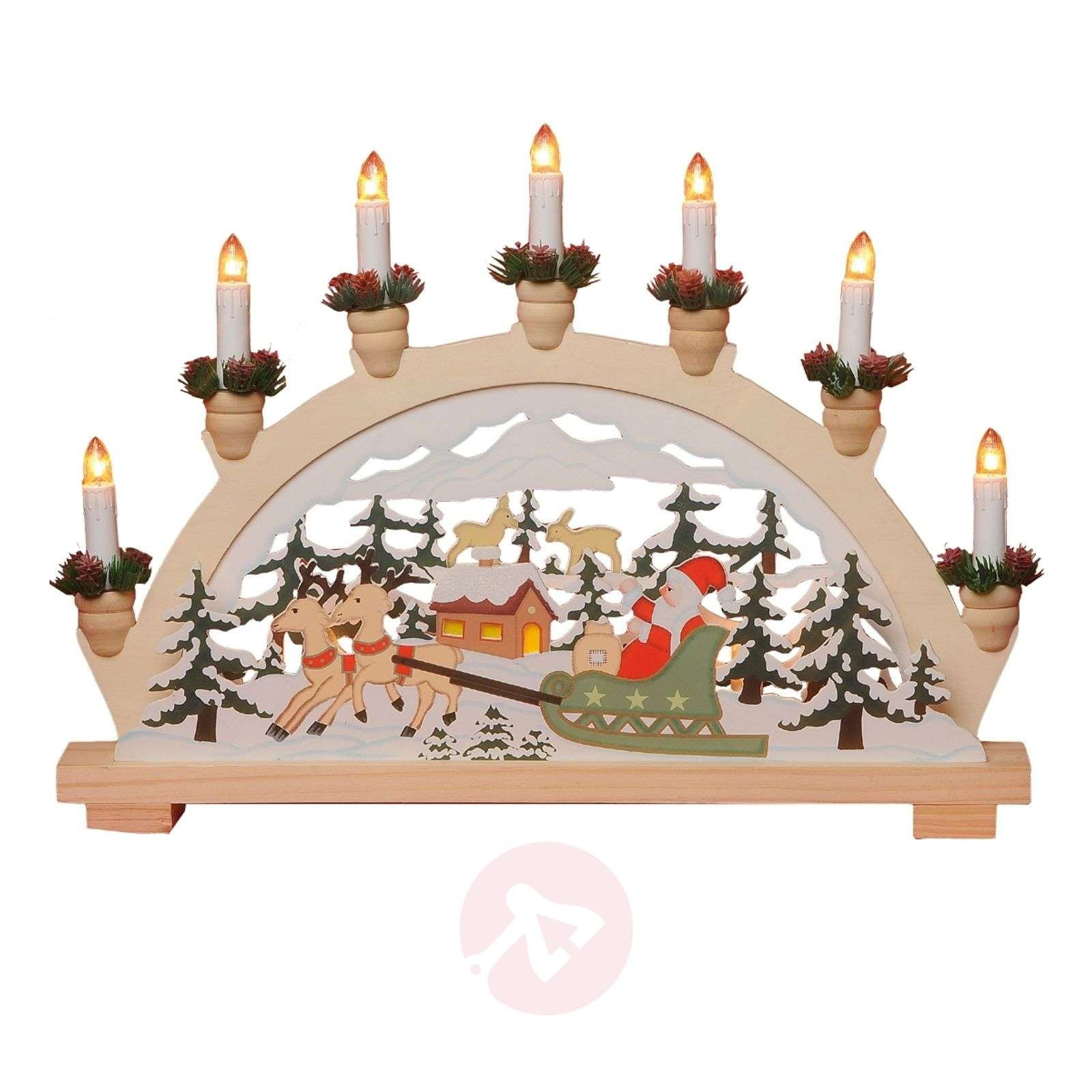 Wonderful 7-light window candle Santa Claus-1522217-01