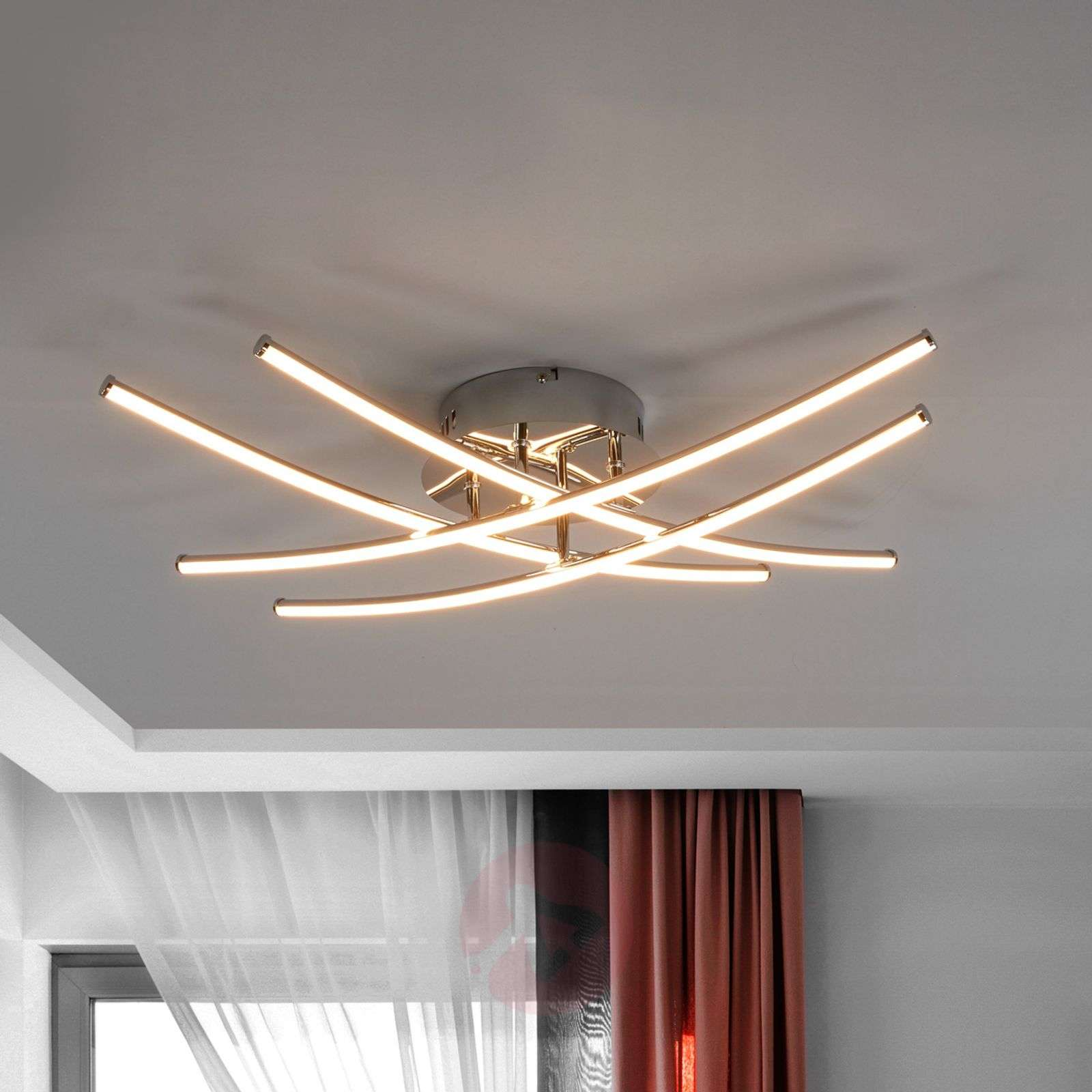 Yael LED ceiling light, kitchens and living rooms-9639008-01