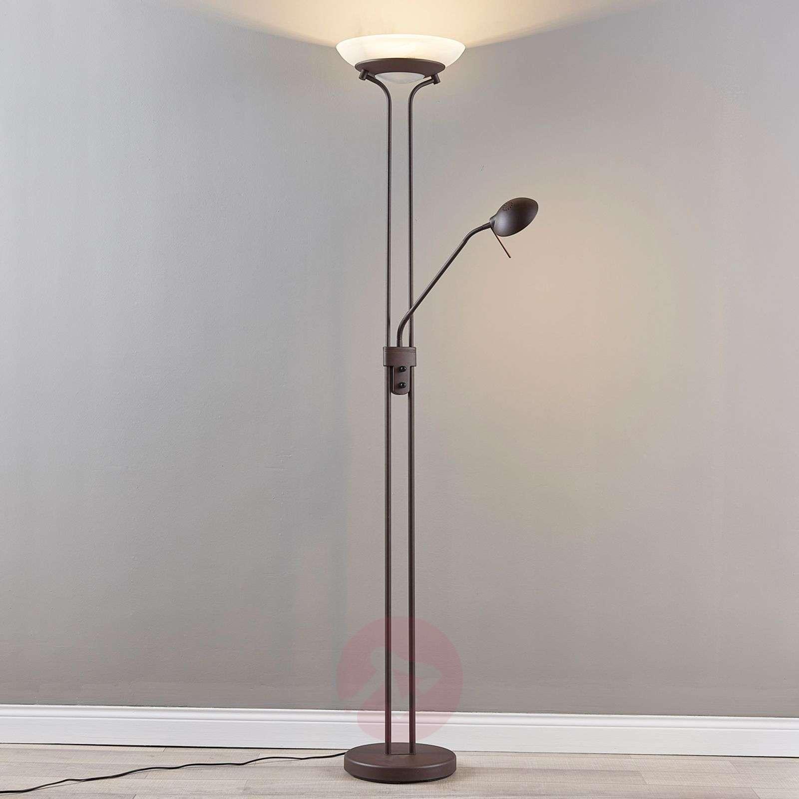 Yveta rust-coloured LED uplighter with dimmer-9620912-07