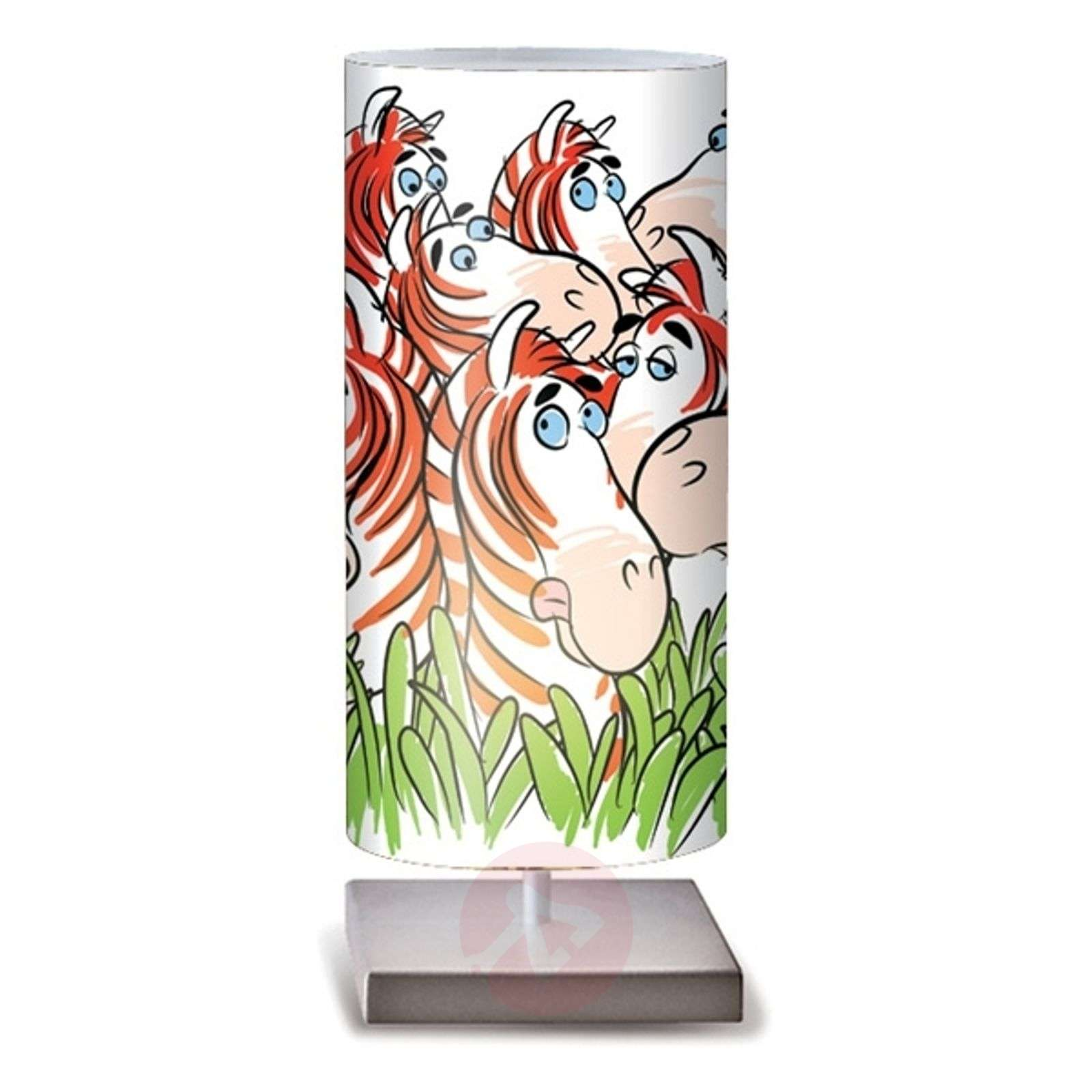 Zebre colourful table lamp for childrens rooms-1056059-01