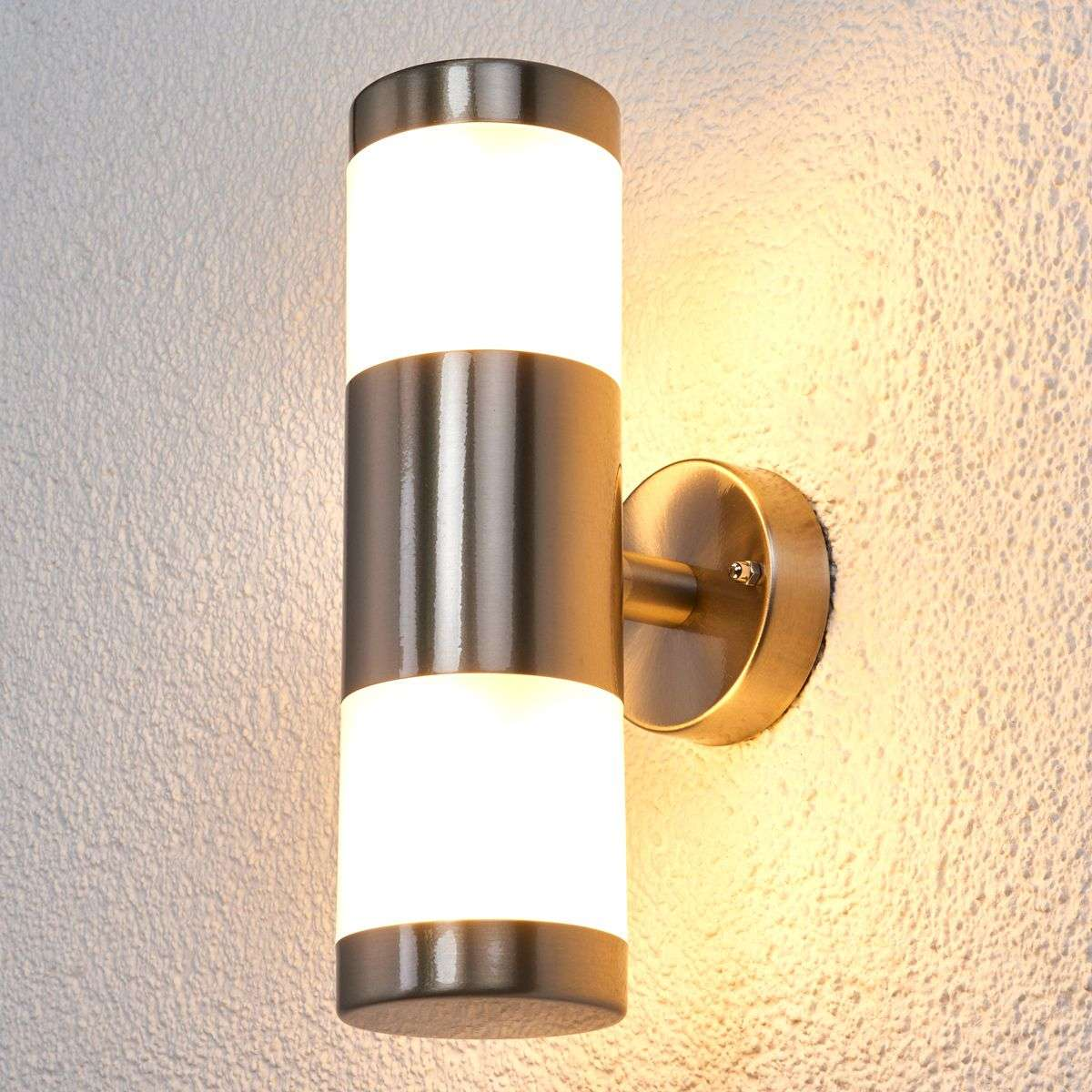 2 bulb stainless steel wall lamp for outdoors led lights 2 bulb stainless steel wall lamp for outdoors led 9988065 39 workwithnaturefo