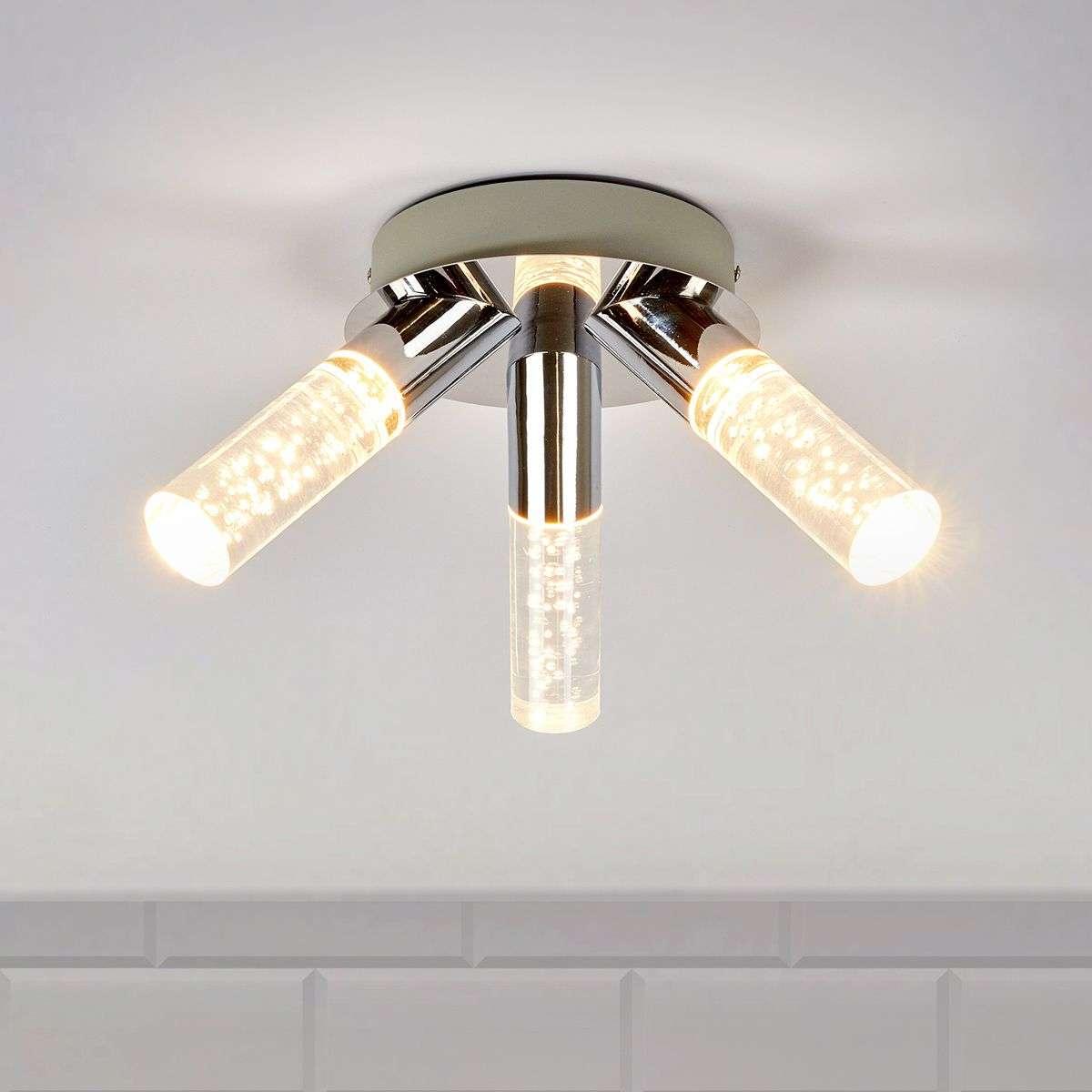 3 Light Duncan Bathroom Ceiling Light, LED