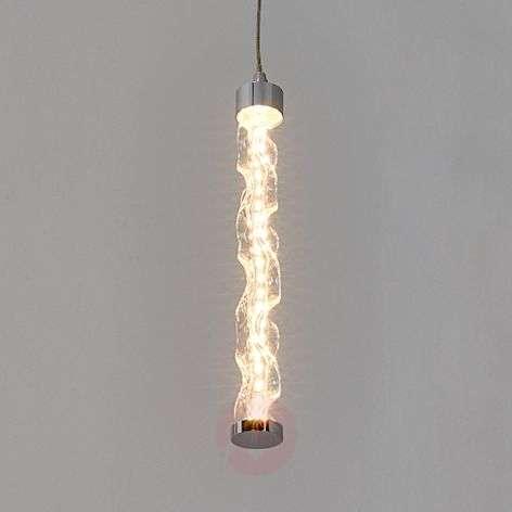 1-bulb LED pendant light Rieke made of glass
