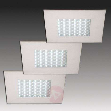 1 LED recessed light in stainless steel look