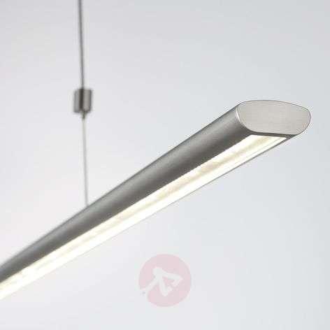 140 cm long LED pendant light Brit, matt nickel