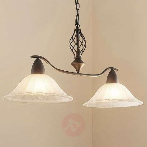 2-bulb. Dunja dining room light with E27 LED lamps