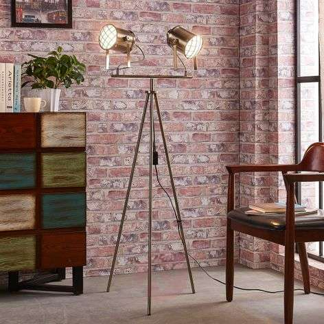 2-bulb floor lamp Ebbi made from metal