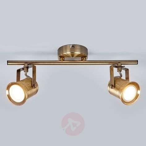 2-bulb GU10 spotlight Marlis, antique brass
