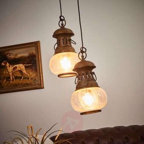 2-bulb hanging light Wind