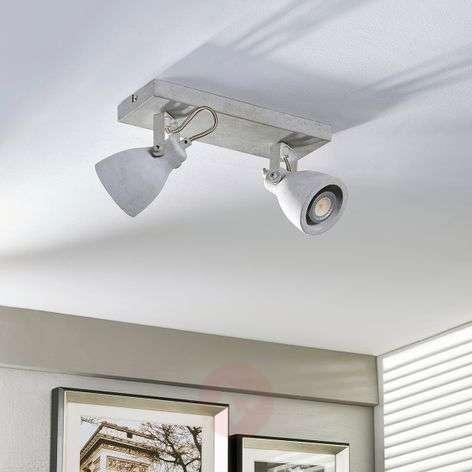 2-bulb Kadiga LED spotlight made of concrete, GU10