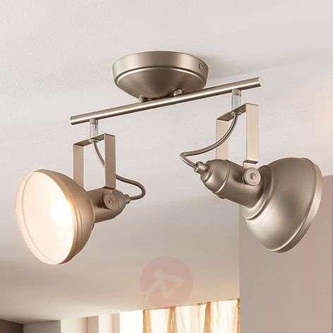 2-bulb LED ceiling light Tameo, matt nickel
