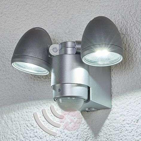 2-bulb LED outdoor spotlight Todora, sensor