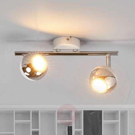 2-bulb LED spotlight Arvin, white