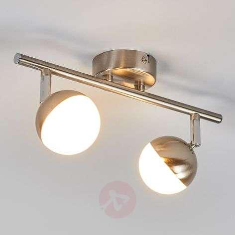2-bulb LED spotlight Jonne, matt nickel