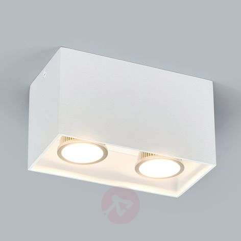 2-bulb surface-mounted downlight Carson in white