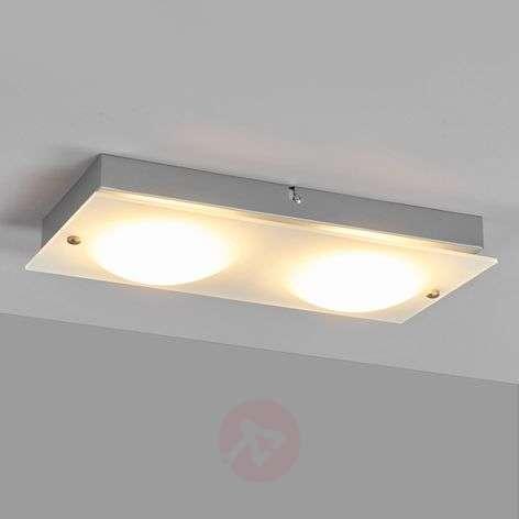 2-light LED wall lamp Annika, made of glass