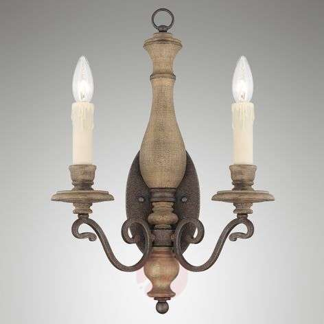 2-Light wall light Mallory in country house style