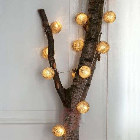 20-bulb LED string lights Bolette, sandy beach