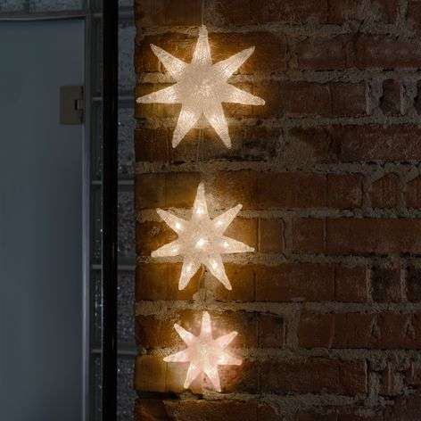 24-bulb LED string lights Stars