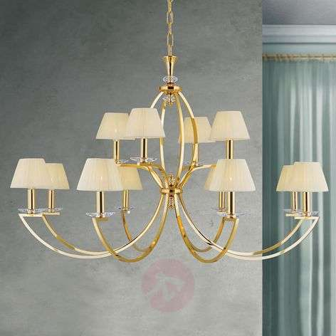 24 carat gold-plated chandelier Avala - 12-bulb