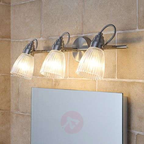 3-bulb bathroom ceiling light Kara with G9 LEDs