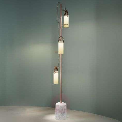 3-bulb designer LED floor lamp Galerie