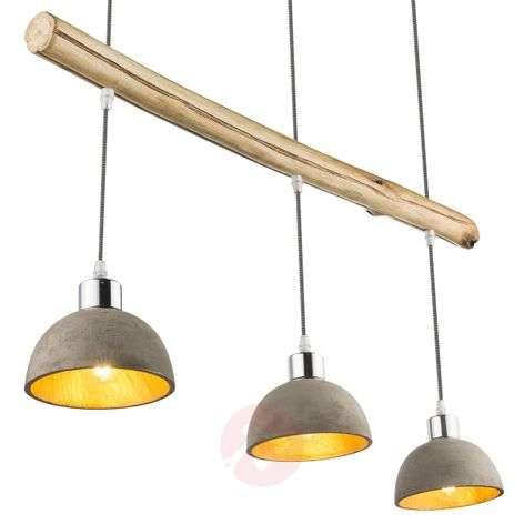 3-bulb Jebel pendant light, concrete lampshades