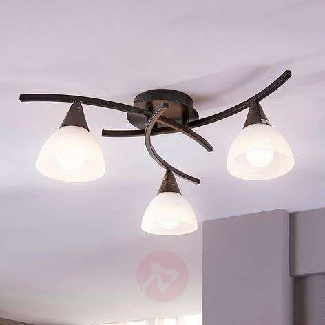 3-bulb LED ceiling lamp Della, black-gold-9620970-31