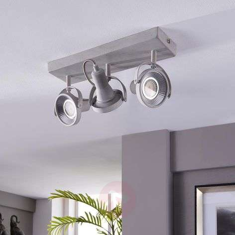 3-bulb LED ceiling spotlight Pieter