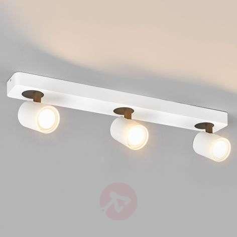 3-bulb LED spotlight in white Sean