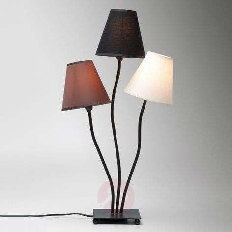 3-bulb table lamp Flexible Mocca Tre