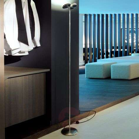 3-LED floor lamp with two spotlights