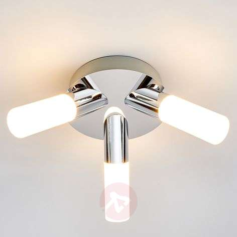 3-light Benaja LED bathroom ceiling lamp