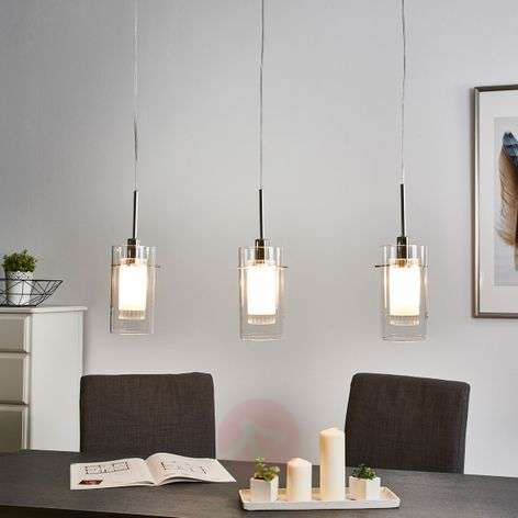 3-light decorative pendant lamp Duo 1