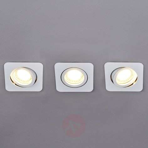 3 piece LED spotlight set Lisara in white