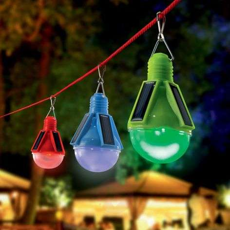 3 piece set decoration solar lights LED Partytime