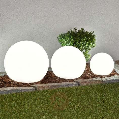 3-piece set LED solar lamps Lago, spheres-4018065-33