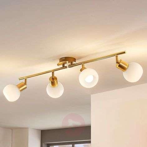 4-bulb LED ceiling light Elaina in brass