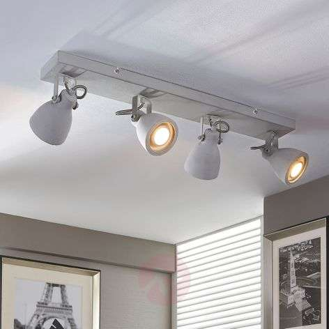 4-bulb LED concrete ceiling lamp Kadiga