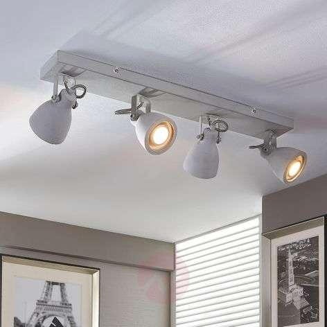 4-bulb LED concrete ceiling lamp Kadiga