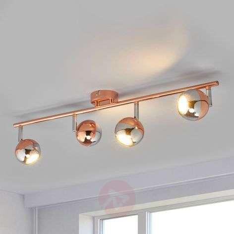 4-bulb LED spotlight Arvin, copper