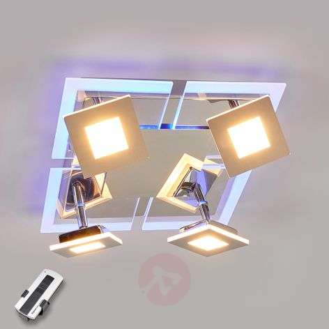 4-bulb square LED ceiling lamp Namika