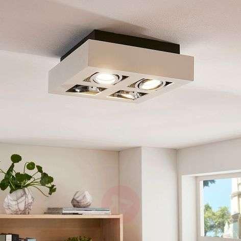 4-bulb square, white LED ceiling light Vince