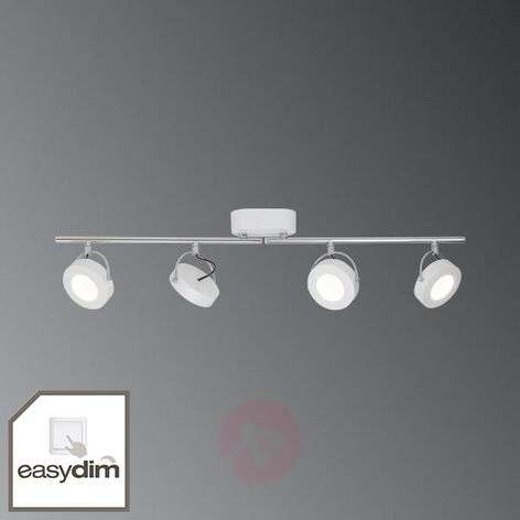 4-bulb white Allora LED ceiling spotlight, EasyDim